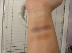 Swatches of the matte shades